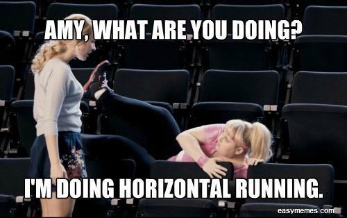 horizontal running meme